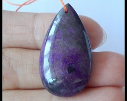 25.5Ct Natural Sugilite Gemstone Pendant Bead