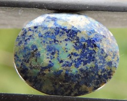 2.20ct AZURITE CHRYSOCOLLA OVAL FACETED SPECIMEN GEMSTONE FROM MADAGASCAR