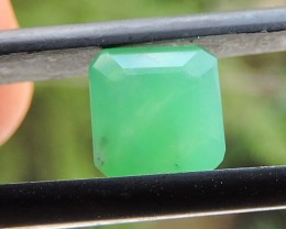 1.35ct CHRYSOPRASE OCTAGON FACETED SPECIMEN GEMSTONE FROM AFRICA
