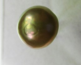 13.8 cts  graded high luster  gold rose color Pearl    PP 511