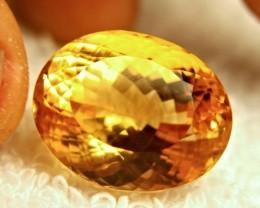 29.69 Ct. Vibrant Golden VVS1 Brazil Citrine - Superb
