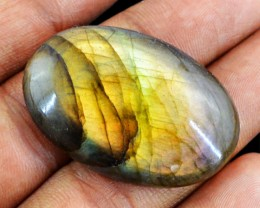 Genuine 49.30 Cts Oval Shaped Labradorite Cab