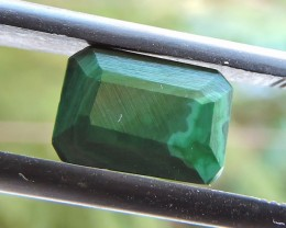2.20ct MALACHITE OCTAGON FACETED SPECIMEN GEMSTONE FROM MADAGASCAR
