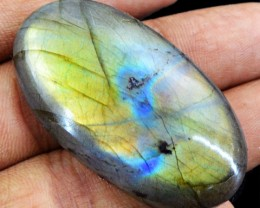 Genuine 80.20 Cts Untreated Labradorite Oval Shaped Cab