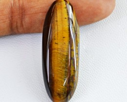 Genuine 29.50 Cts Golden Tiger Eye Untreated Cab