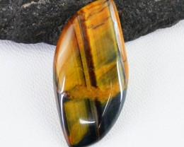 Genuine 27.00 Cts Untreated Tiger Eye Cab