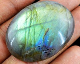 Genuine 72.25 Cts Oval Shaped Labradorite Cab