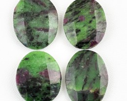 Genuine 121.00 Cts Oval Shaped Ruby Zisoite Gemstones Lot