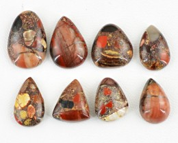 Genuine 72.05 Cts Untreated Mookaite Cab Lot
