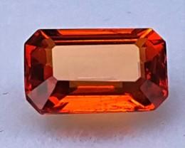 1.25cts, Orange Spessartite Garnet,  VVS1  Eye Clean, Untreated