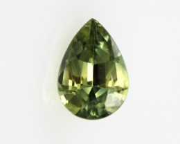 1.18cts Natural Australian Yellow/Blue Parti Sapphire Pear Shape