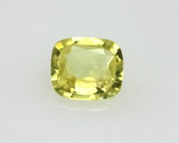 0.49cts Natural Australian Yellow Sapphire Cushion Cut