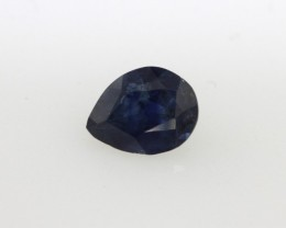 0.73cts Natural Australian Blue Sapphire Pear Shape