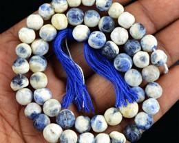 Genuine 109.05 Cts Blue Lapis Lazuli Beads 14 Inch Strand