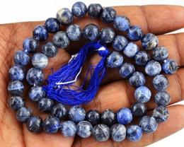 Genuine 119.05 Cts Blue Lapis Lazuli Beads 14 Inch Strand