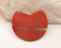 P0107 - 53.5Ct Natural Red jasper Pendant Bead