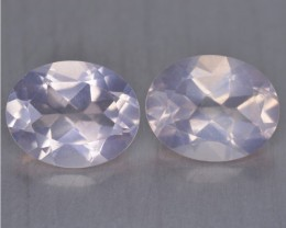 4.96 Cts Beautiful  Matching Pair Natural Rose Quartz