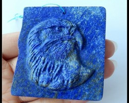 270.5Ct Handcrafted Natural Lapis Lazuli Gemstone Eagle Pendant Bead