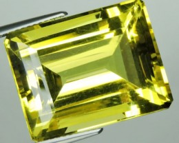 26.20 cts Natural Lemon Yellow Quartz Brazil cut octogon good luster