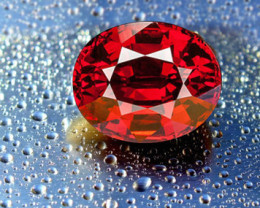 4.16 CT SPESSARTITE GARNET - MASTER CUT!  LOUPE CLEAN!
