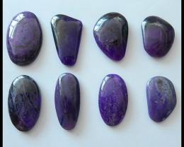 8 PCS High Quality Natural Sugilite Gemstone Cabochons Parcel