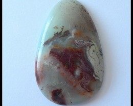 58.5Ct Natural Amazonite Gemstone Cabochon,Bi Color Amazonite
