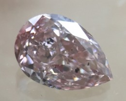 GIA Certificate Pear 0.52 Carat Natural Fancy Color Orange Pink Loose Diamo