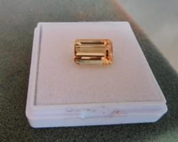 Adorable 5.6ct Emerald Cut Golden Peach Morganite Brazil VVS - A571