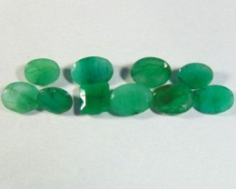 21.45 cts Natural  Emerald NATURAL green Faceted cuts