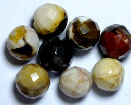61.05 CTS PETRIFIED WOOD BEADS, (8PC) NP-1017