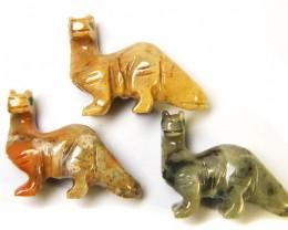 THREE CUTE ANIMAL ROCK CARVINGS PERU   AAA2687