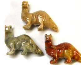 THREE CUTE ANIMAL ROCK CARVINGS PERU   AAA2688