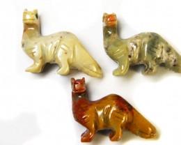 THREE CUTE ANIMAL ROCK CARVINGS PERU   AAA2690