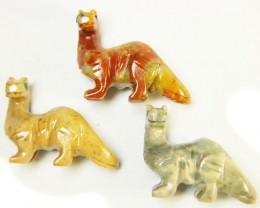 THREE CUTE ANIMAL ROCK CARVINGS PERU   AAA2693