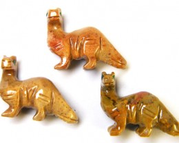 THREE CUTE ANIMAL ROCK CARVINGS PERU   AAA2697