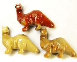 THREE CUTE ANIMAL ROCK CARVINGS PERU   AAA2698