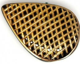 BLACK ONYX 24K GOLD ENGRAVED 27 CTS LG-946
