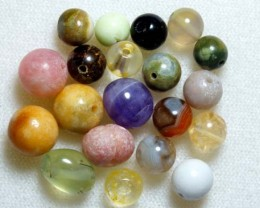 ASSORTED NATURAL STONE (PARCEL) DRILLED 43CTS NP-568
