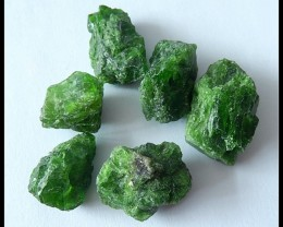 6 PCS NATURAL Diopside Gemstone Rough Specimens
