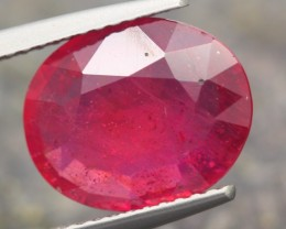 4.64ct Natural MADAGASCAR OVAL RED RUBY GEMSTONE