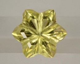 LEMON QUARTZ FLOWER CARVING 3.75 CTS PG-1830