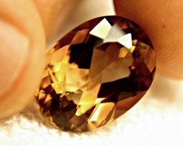 20.4 Carat VVS Golden Brown Topaz - Superb