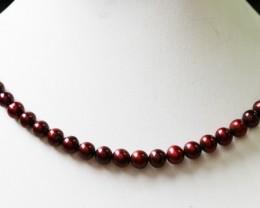 Magenta  Round  Natural Pearl strand  GOGO 782