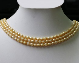 Golden Yellow Natural Pearl strand  GOGO 643
