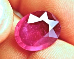 6.31 Carat Fiery Red Ruby - Beautiful