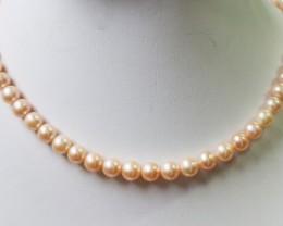 Apricot -Pink Natural Pearl strand  GOGO828