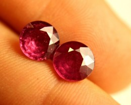 6.4 Tcw. Matched, Fiery African Rubies - Gorgeous