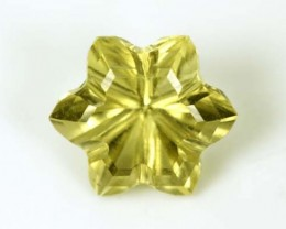 LEMON QUARTZ FLOWER CARVING 3.8 CTS PG-1833