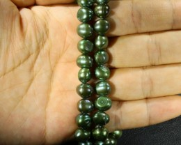 Peacock color baroque Natural Pearl strands  GOGO 880