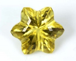 LEMON QUARTZ FLOWER CARVING 3.5 CTS PG-1837